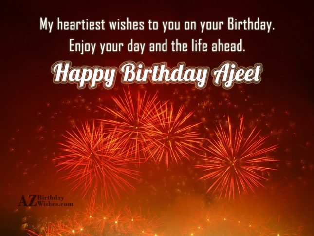 Happy Birthday Ajeet - AZBirthdayWishes.com