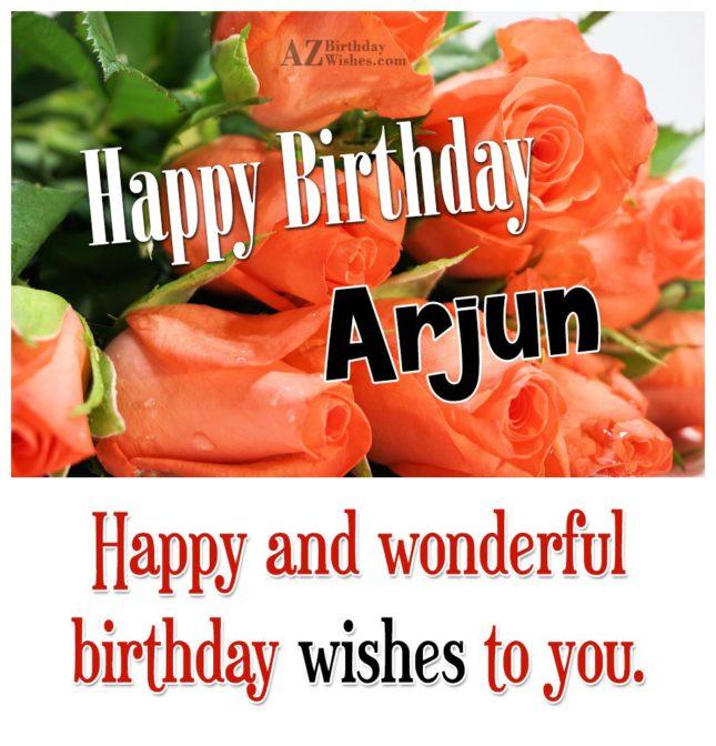 Happy Birthday Arjun - AZBirthdayWishes.com