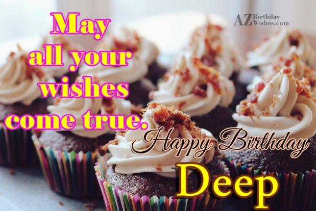 Happy Birthday Deep - AZBirthdayWishes.com