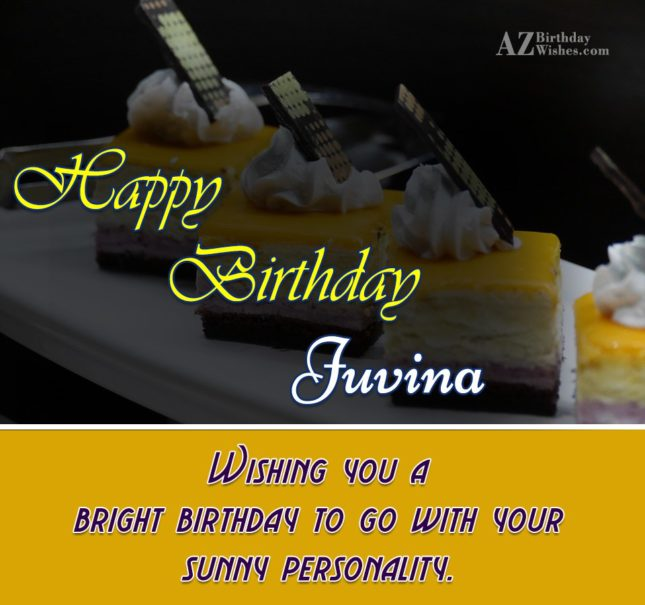 Happy Birthday Juvina - AZBirthdayWishes.com