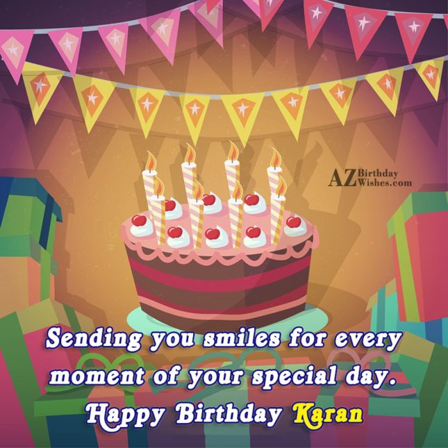 Happy Birthday Karan - AZBirthdayWishes.com