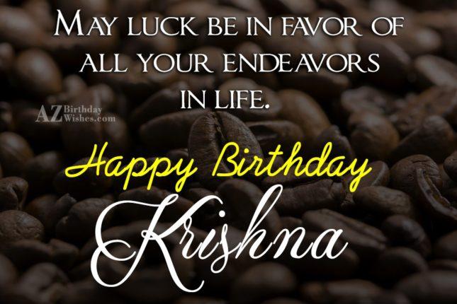 Happy Birthday Krishna - AZBirthdayWishes.com