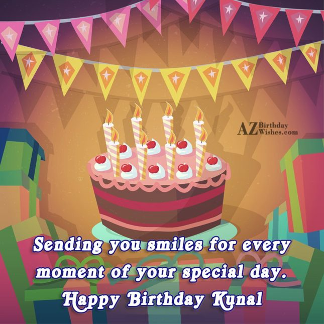 Happy Birthday Kunal - AZBirthdayWishes.com