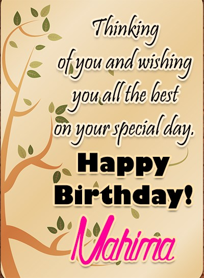 Happy Birthday Mahima - AZBirthdayWishes.com