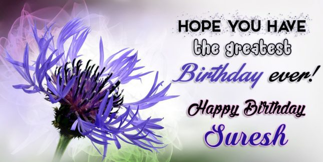Happy Birthday Suresh - AZBirthdayWishes.com