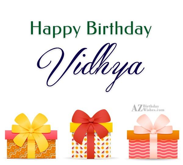 Happy Birthday Vidhya - AZBirthdayWishes.com