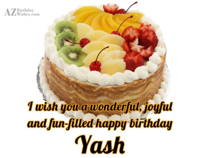 Happy Birthday Yash - AZBirthdayWishes.com
