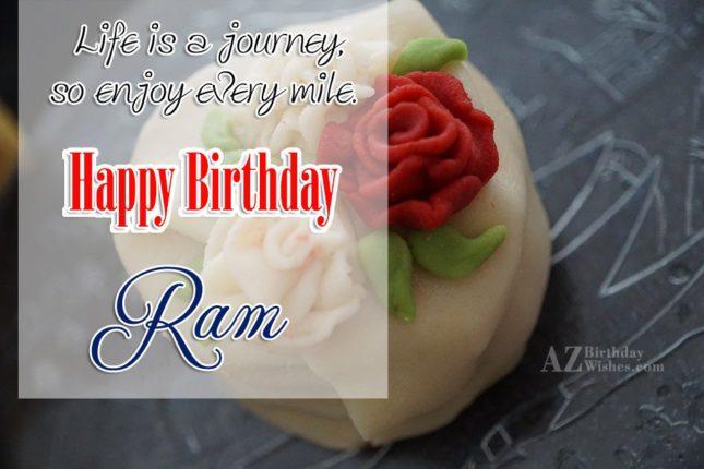 Happy Birthday Ram - AZBirthdayWishes.com