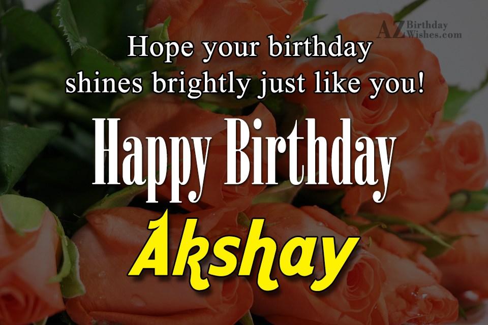 Happy Birthday Akshay
