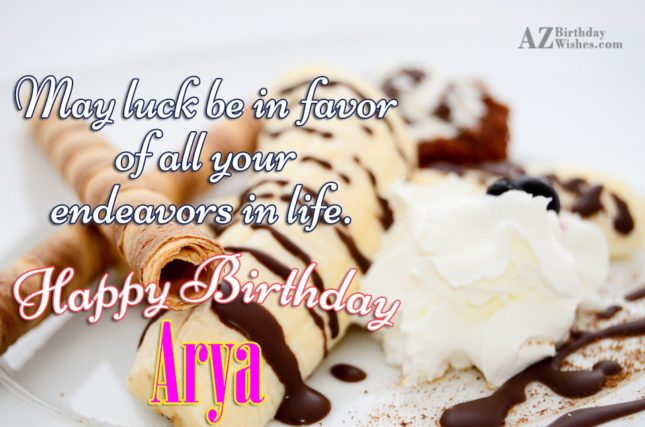 Happy Birthday Arya - AZBirthdayWishes.com