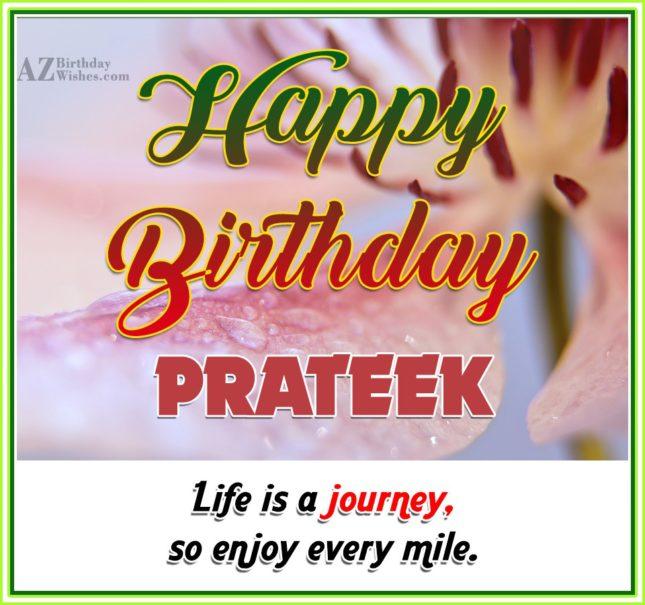 Happy Birthday Prateek - AZBirthdayWishes.com