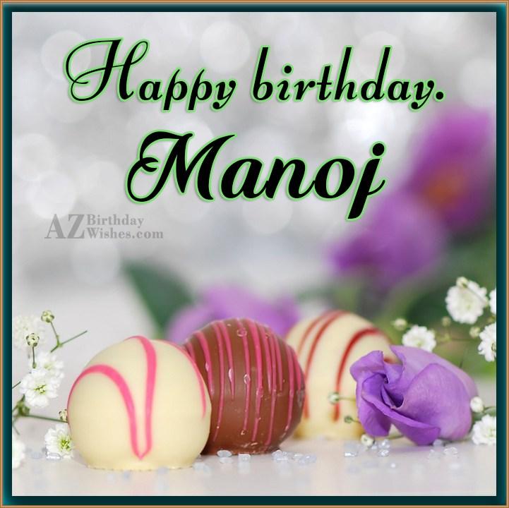 Cake Images Manoj : Happy Birthday Manoj