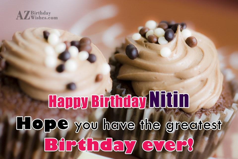 Cake Images With Name Nitin : Happy Birthday Nitin
