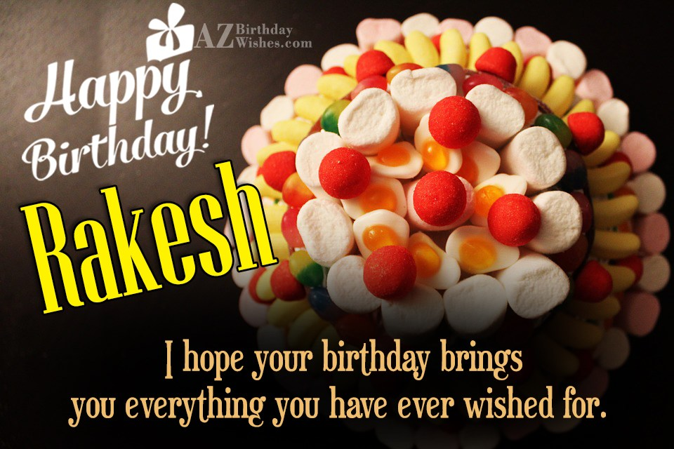 Birthday Cake Images With Name Rakesh : Happy Birthday Rakesh