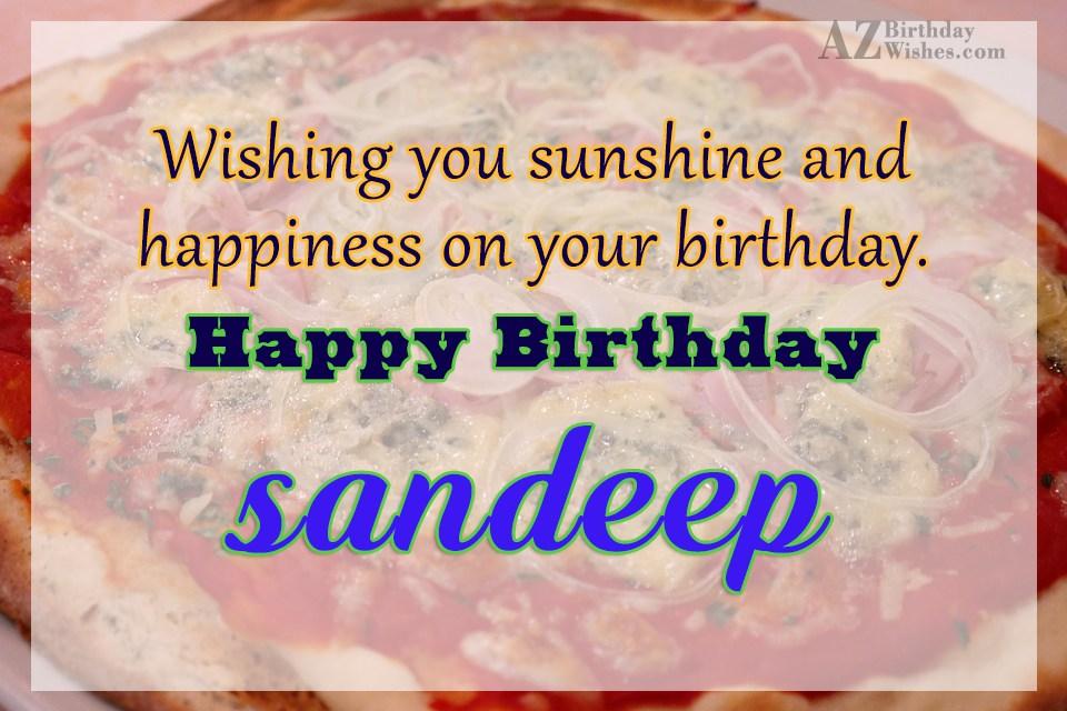 Happy Birthday Sandeep
