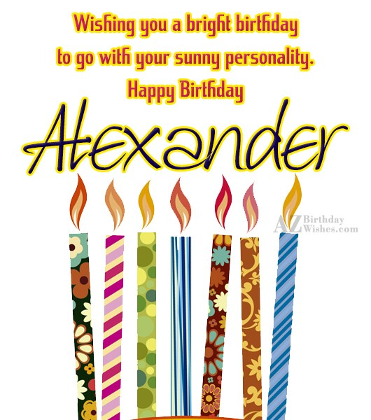 Happy Birthday Alexander - AZBirthdayWishes.com