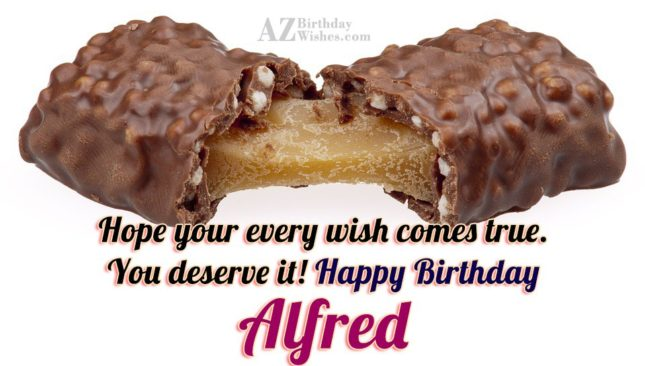 Happy Birthday Alfredo - AZBirthdayWishes.com