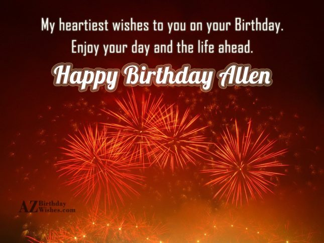 Happy Birthday Allen - AZBirthdayWishes.com