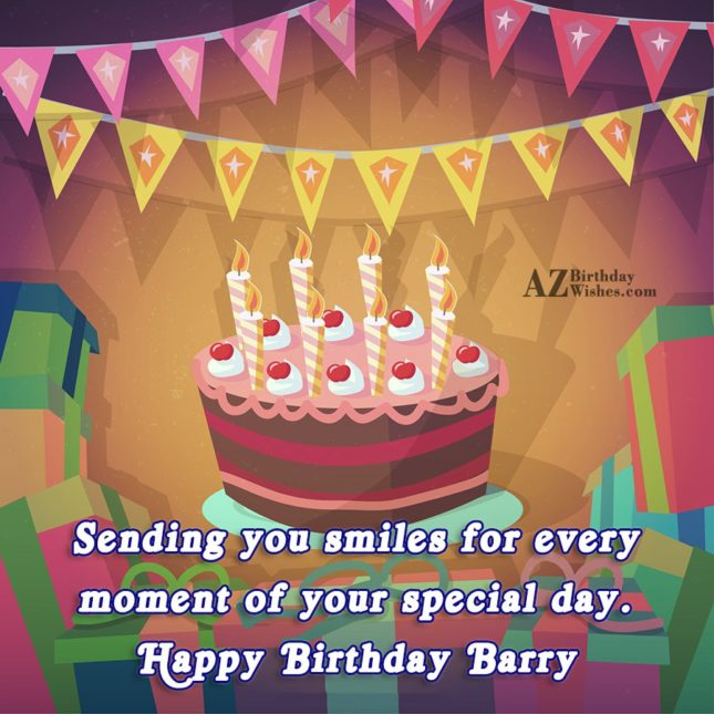 Happy Birthday Barry - AZBirthdayWishes.com