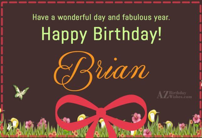 Happy Birthday Brian - AZBirthdayWishes.com