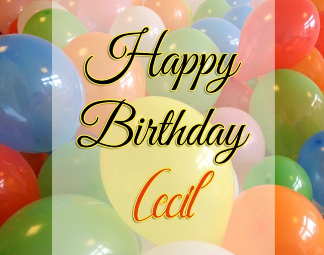Happy Birthday Cecil - AZBirthdayWishes.com