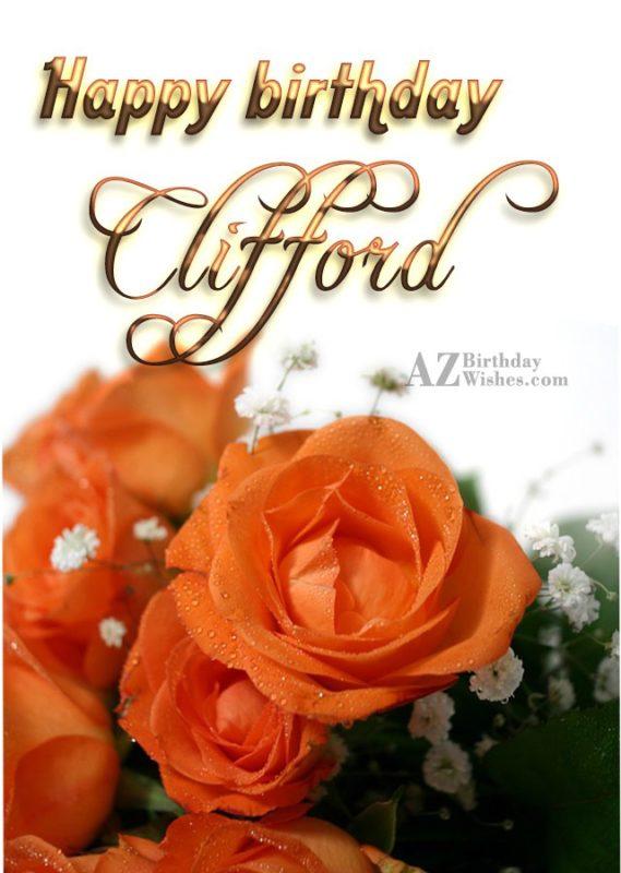 Happy Birthday Clifford - AZBirthdayWishes.com