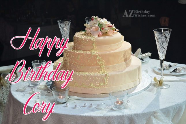 Happy Birthday Cory - AZBirthdayWishes.com