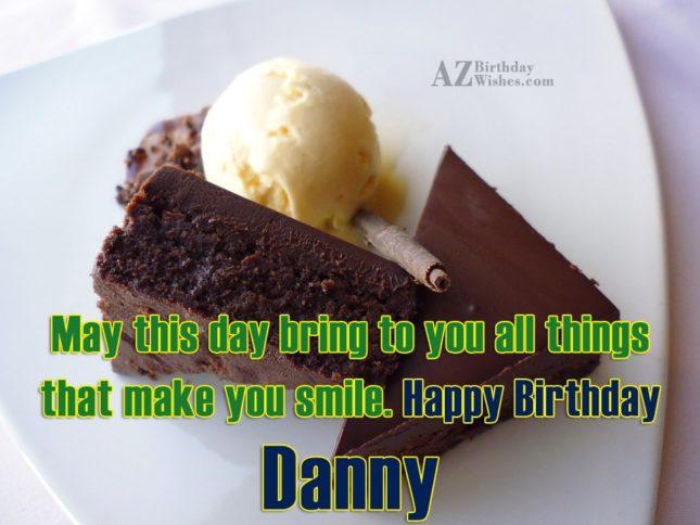 Happy Birthday Danny - AZBirthdayWishes.com