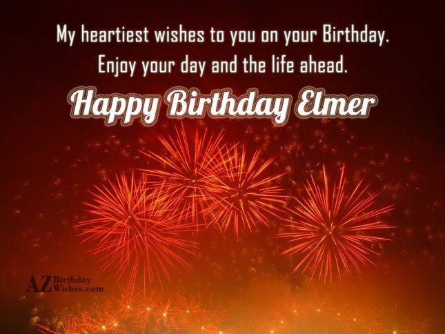 Happy Birthday Elmer - AZBirthdayWishes.com