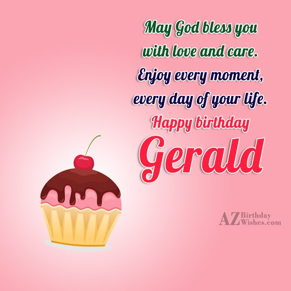 Happy Birthday Gerald - AZBirthdayWishes.com