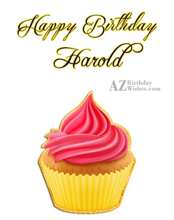 Happy Birthday Harold - AZBirthdayWishes.com