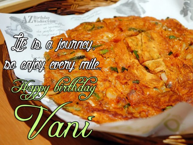 Happy Birthday Vani - AZBirthdayWishes.com
