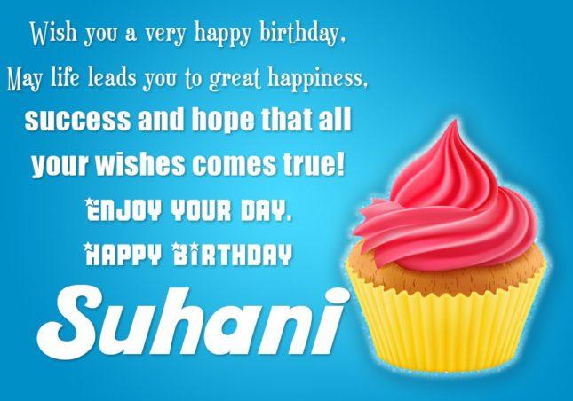 Happy Birthday Suhani - AZBirthdayWishes.com