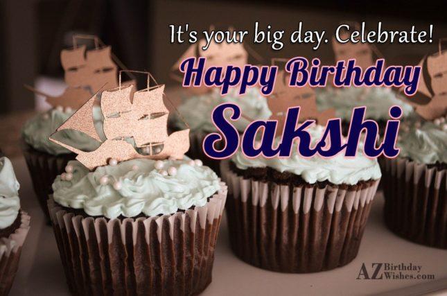 Happy Birthday Sakshi - AZBirthdayWishes.com