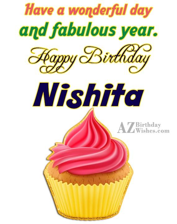 Happy Birthday Nishita - AZBirthdayWishes.com