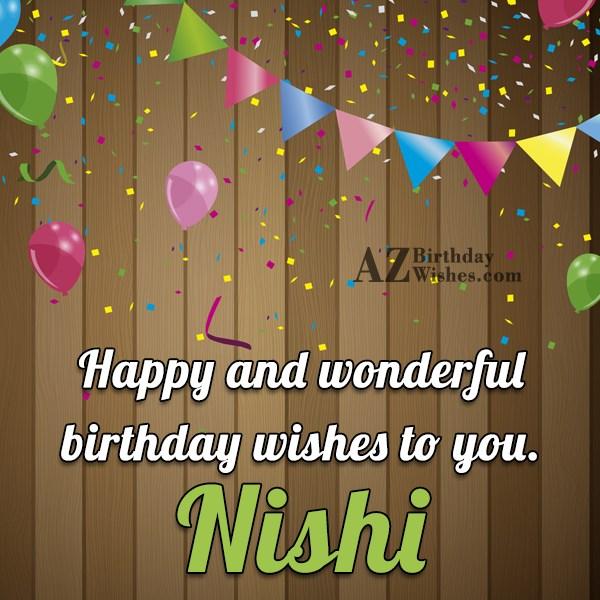 Happy Birthday Nishi - AZBirthdayWishes.com