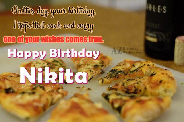 Happy Birthday Nikita - AZBirthdayWishes.com