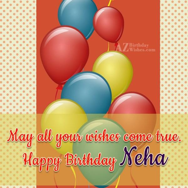Happy Birthday Neha - AZBirthdayWishes.com