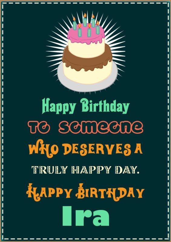 Happy Birthday Ira - AZBirthdayWishes.com