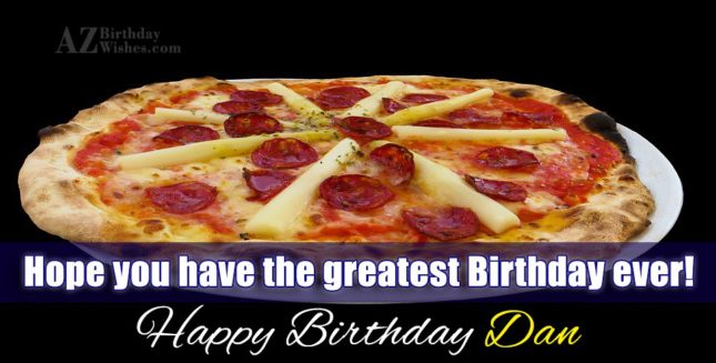 Happy Birthday Dan - AZBirthdayWishes.com