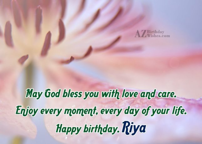 Happy Birthday Riya - AZBirthdayWishes.com