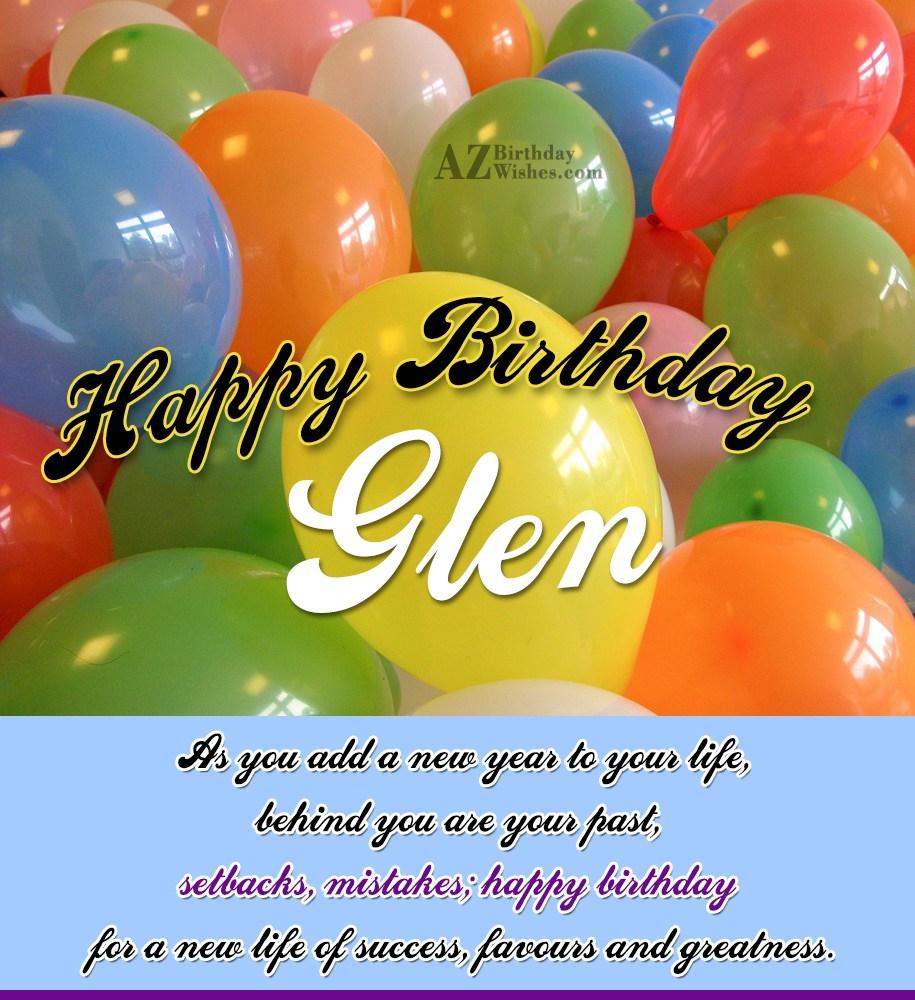 Happy Birthday Glen
