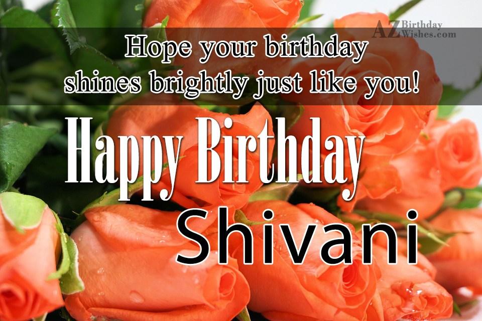 Birthday Cake Images With Name Shivani : Happy Birthday Shivani