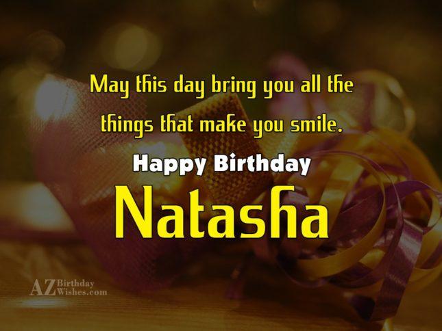 Happy Birthday Natasha - AZBirthdayWishes.com