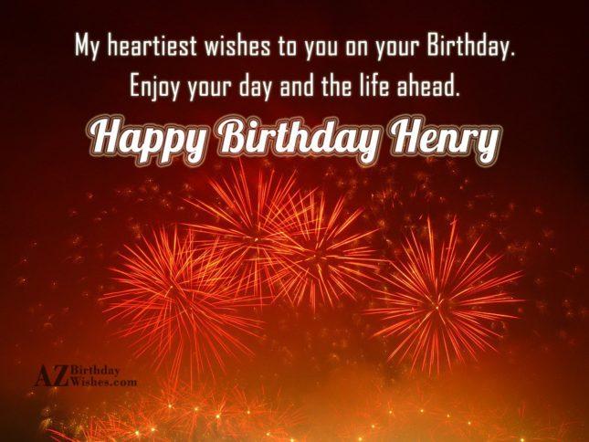 Happy Birthday Henry - AZBirthdayWishes.com