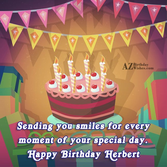 Happy Birthday Herbart - AZBirthdayWishes.com