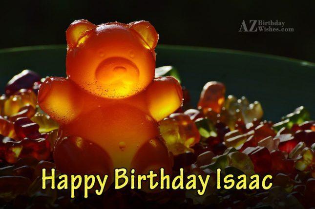 Happy Birthday Isaac - AZBirthdayWishes.com