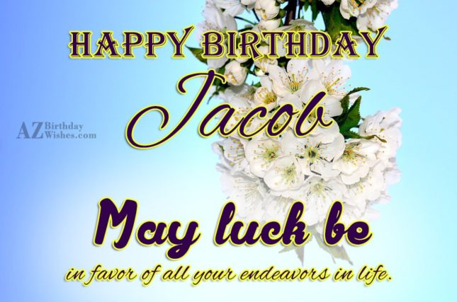 Happy Birthday Jacob - AZBirthdayWishes.com