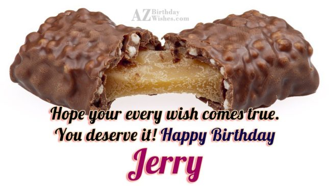 Happy Birthday Jerry - AZBirthdayWishes.com