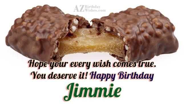 Happy Birthday Jimmie - AZBirthdayWishes.com